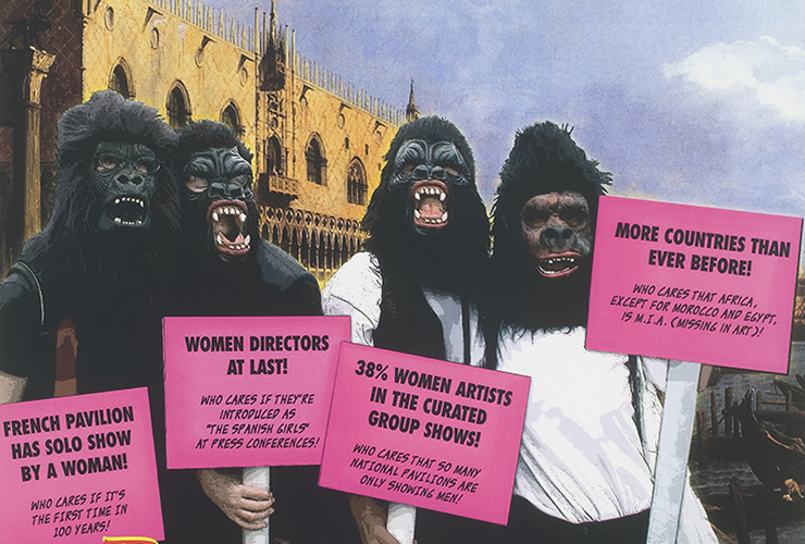Why have there been no great women artists? Guerrilla Girls, Benvenuti alla biennale femminista!, 2005, lithographic poster. National Museum of Women in the Arts, Washington DC, USA.