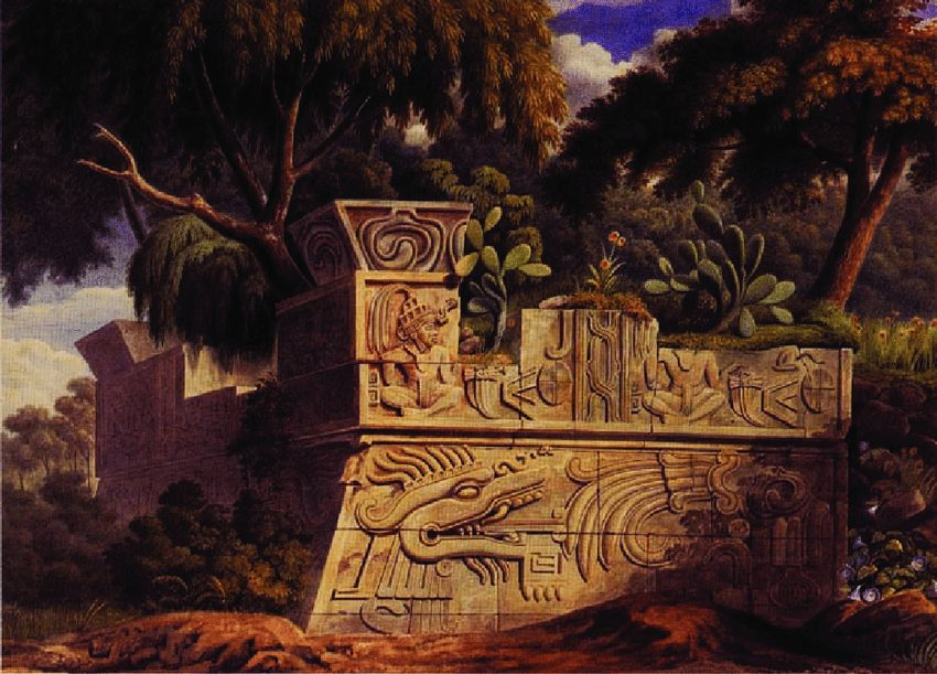 traveling artists mexico. Traveling artist. Johann Friedrich von Waldeck, The pyramid of Xochicalco, 1829, Fomento Cultural Banamex, Mexico City.