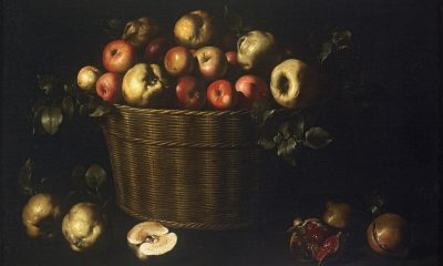 Juan de Zurbarán, Basket of apples, quinces and pomegranates, 16433-1645, Museu Nacional d'Art de Cataunya (MNAC), Barcelona, Spain.
