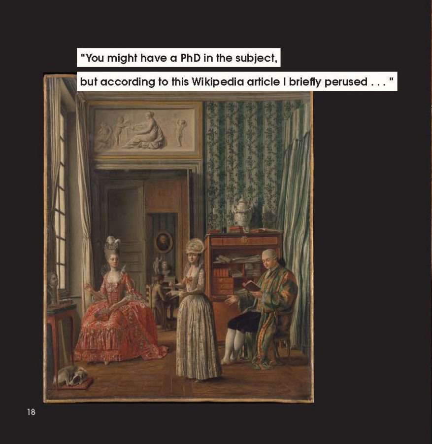 men to avoid in art and life: Anonymous, Domestic Scene, ca. 1775-80, The Metropolitan Museum of Art, NY, USA. In Men to Avoid in Art and Life by Nicole Tersigni, Chronicle Books 2020.
