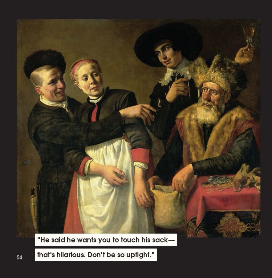 men to avoid in art and life: Claes Moyaert, Mooy-Aal and Her Suitors, ca. 1630-40, Rijksmuseum, Amsterdam.