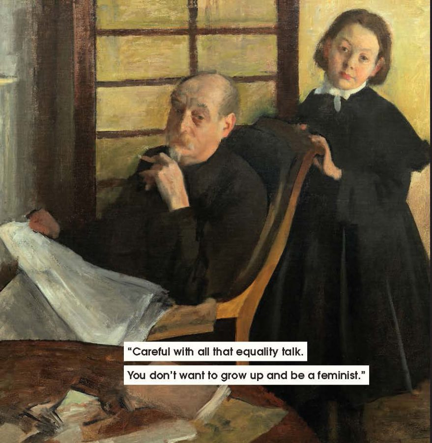 men to avoid in art and life: Edgar Degas, Henri Degas and His Niece Lucie Degas, 1875-76, The Art Institute of Chicago, Chicago, IL, USA