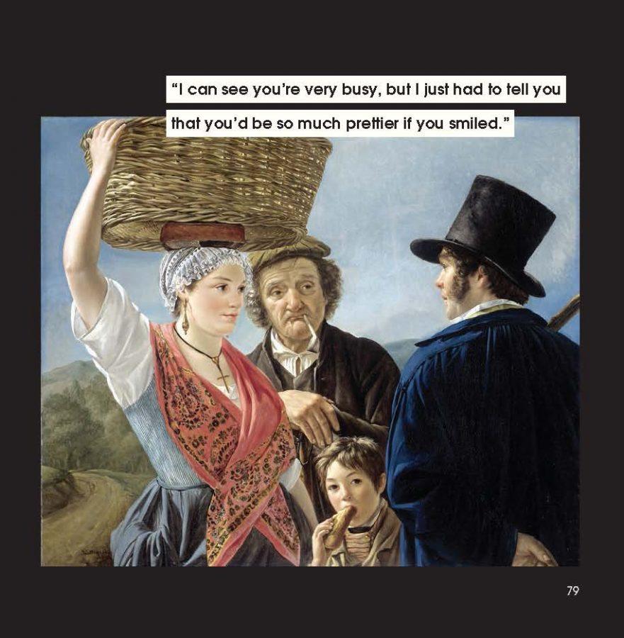men to avoid in art and life: Jean Henri de Coene, Market Gossip, 1827, Rijksmuseum, Amsterdam,  Netherlands.