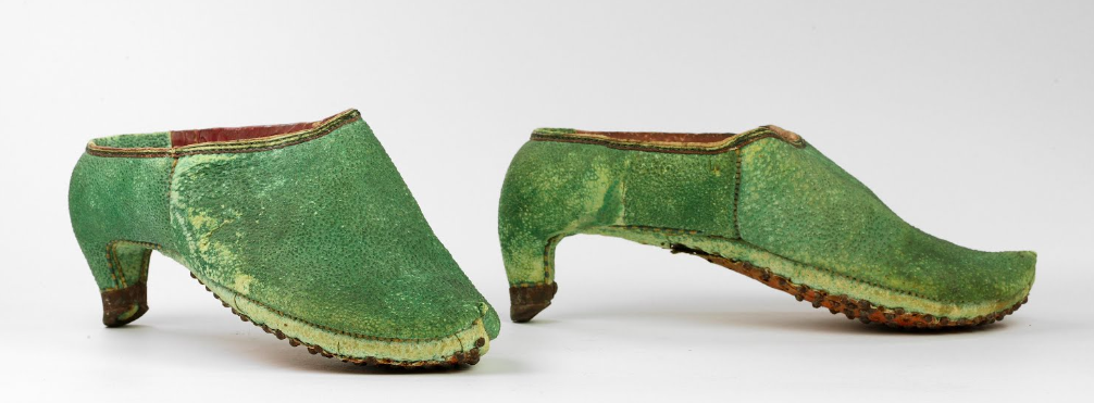 men in heels: Persian Riding Shoes, 17th century, Bata Shoe Museum, Toronto, Canada
