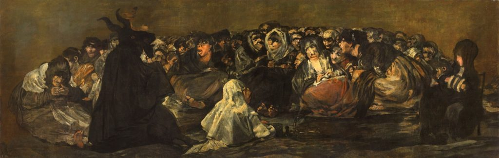 Beautiful Horrors: Art in the Chilling Adventures of Sabrina: Francisco Goya, Witches' Sabbath, 1820-1823, Museo del Prado, Madrid.