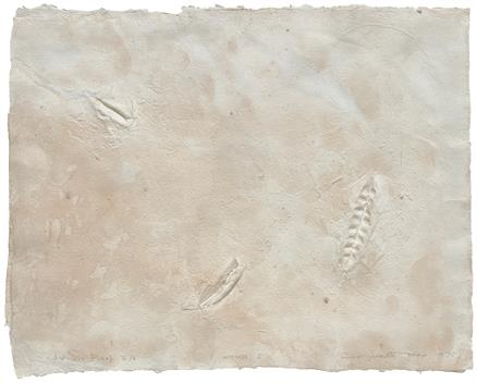 indian printmakers: Somnath Hore, Wounds - 5, 1970, paper pulp print pasted on mount board.