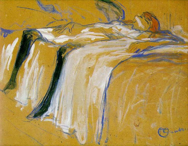 art for a break-up: Henri de Tolouse-Lautrec, Alone (Elles), 1896, Musée d'Orsay, Paris, France.