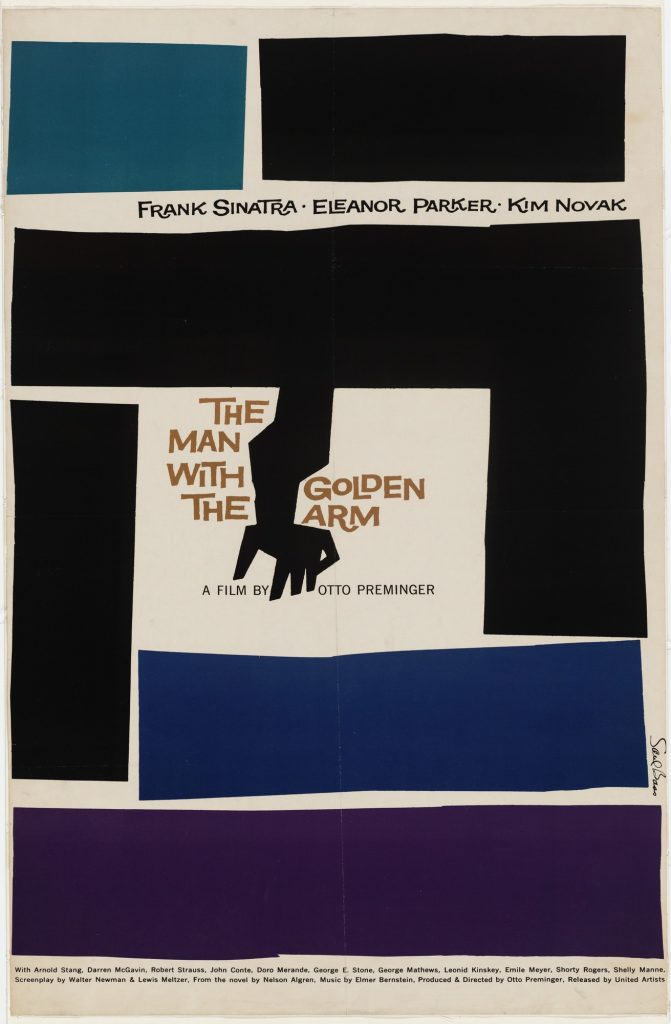 Saul Bass, The Man with the Golden Arm, poster, 1955, Museum of Modern Art, New York, NY, USA.