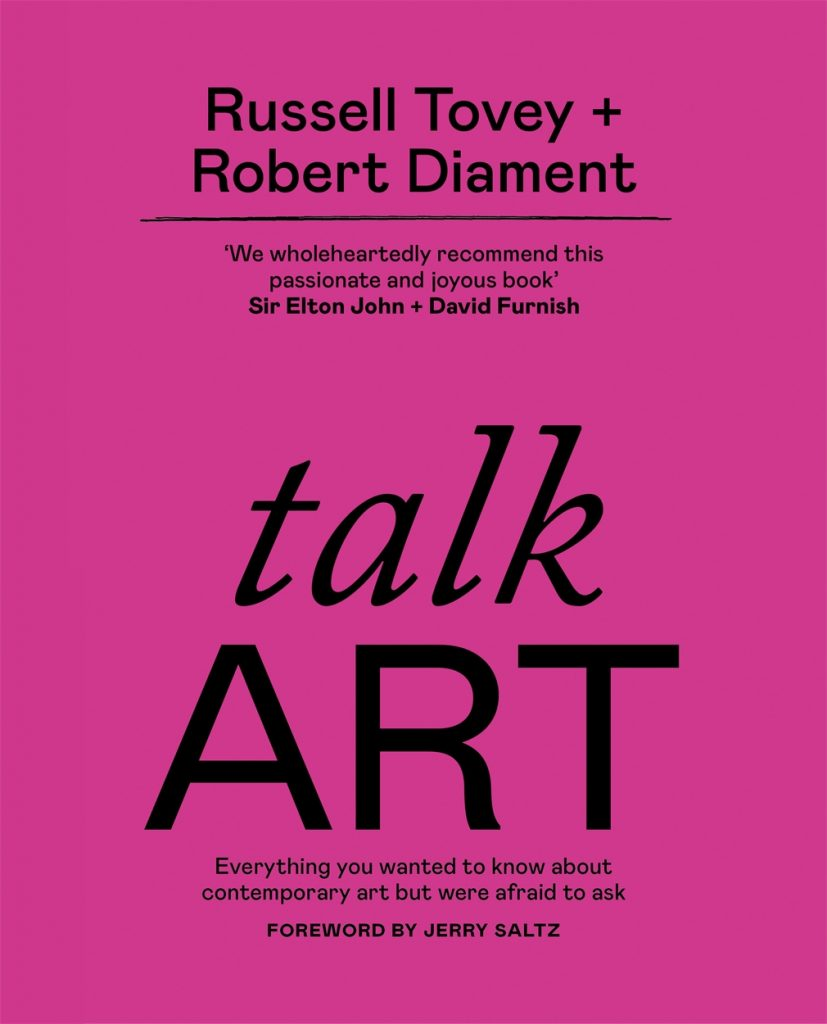 Book cover: talkART by Russell Tovey and Robert Diament, Octopus Publishing, 2021. talk ART book review