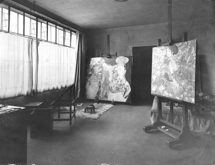 Moritz Nähr, Klimt's Studio, ca. 1917, Vienna, Austria.