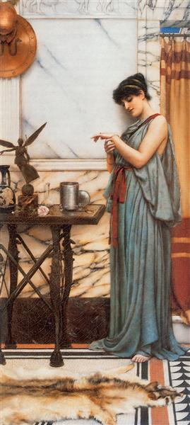 John William Godward, His Birthday Gift, 1889, private collection.