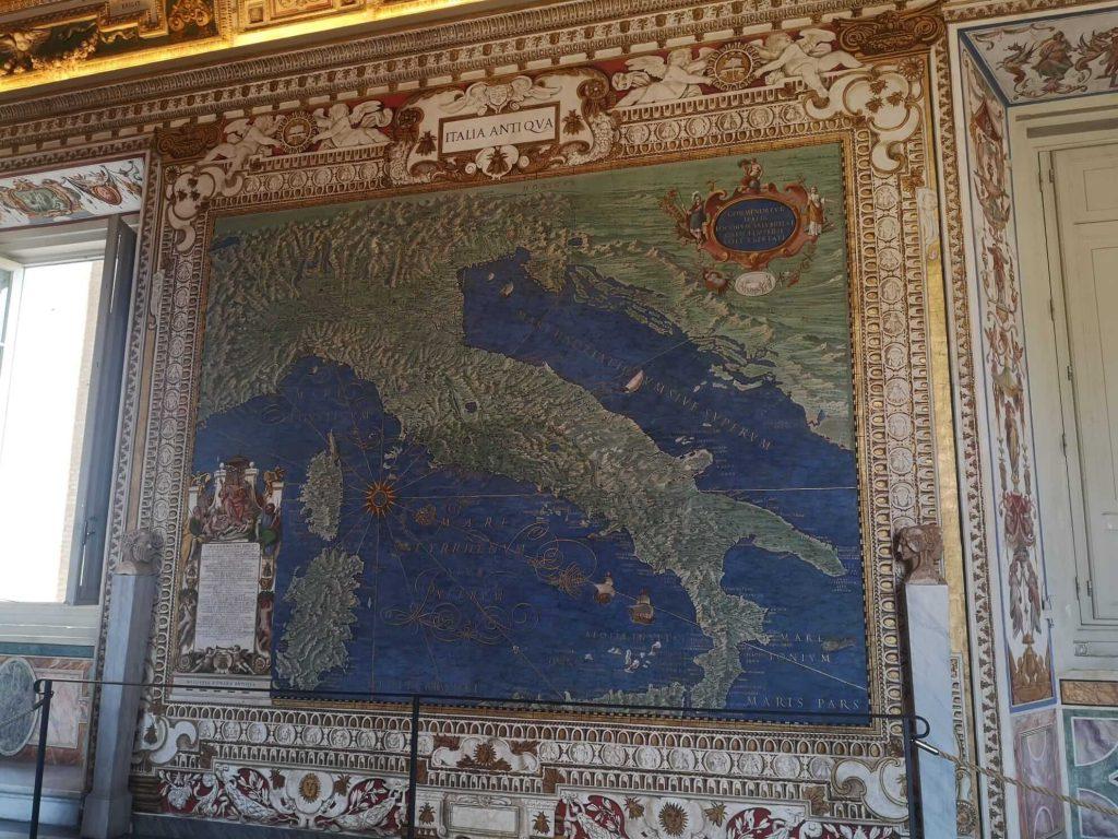 Halls of maps, Egnazio Danti, Italia Antiqua, 1580-1585, Vatican Museums, Rome, Italy.