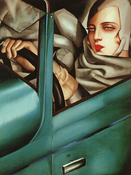 Tamara de Lempicka, Self portrait (Tamara in a Green Bugatti), 1929, private collection. Traveling.