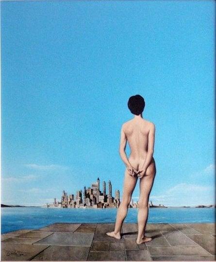 break-up art: Jose Manuel Capuletti, Not Guilty, 1967, private collection. Wiki Art.