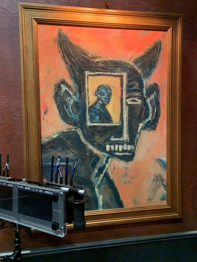 Beautiful Horrors: Art in the Chilling Adventures of Sabrina: Clive Barker, At the Window, 1997. On-set photo courtesy of Joshua Conkel.