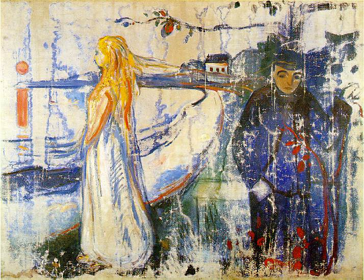 art break-up: Edvard Munch, Separation, 1894, Munch Museum, Oslo, Norway.