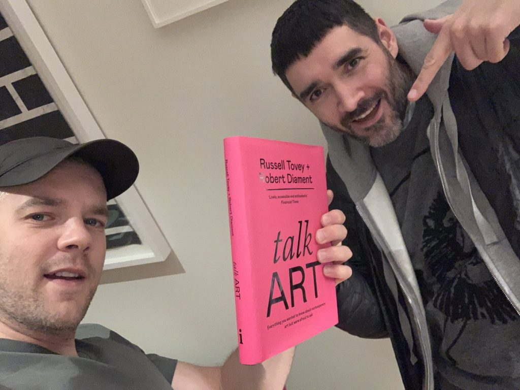 Russell Tovey and Robert Diament. Twitter. talk ART book review