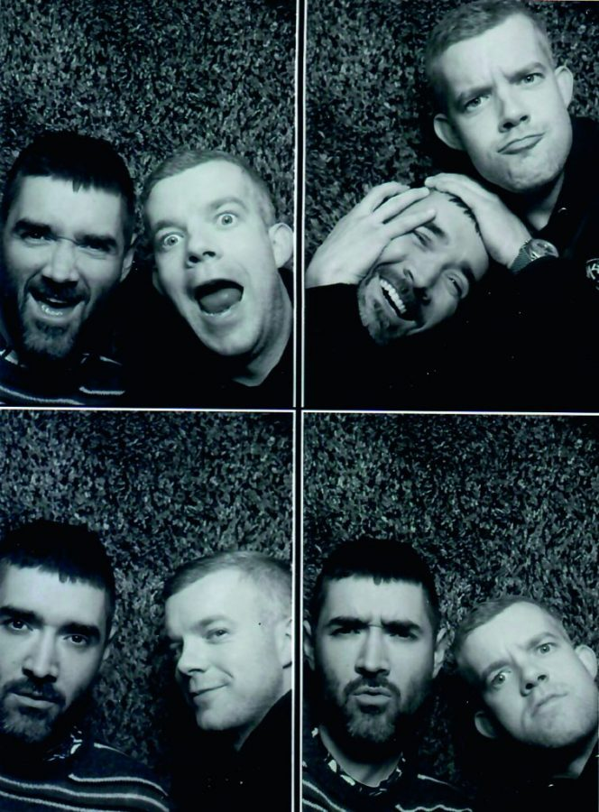 Photos of Russell Tovey and Robert Diament in talkART, Octopus Publishing, 2021. talk ART book review