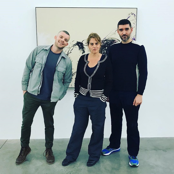 Russell Tovey, Tracey Emin, Robert Diament. Russel Tovey's Instagram profile. talk ART book review