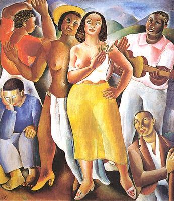 Modernism in Brazil: Emiliano Di Cavalcanti, Samba, 1925, oil on canvas.