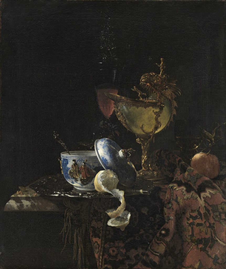 Willem Kalf, Still Life with a Chinese Bowl, Nautilus Cup and Other Objects, 1662, Museo Nacional Thyssen-Bornemisza, Madrid, Spain