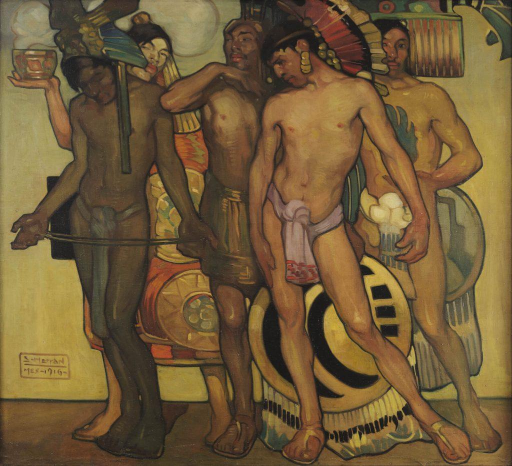 Saturnino Herrán, Our Ancient Gods, 1916, Museo Colección Blaisten, Mexico City, Mexico.