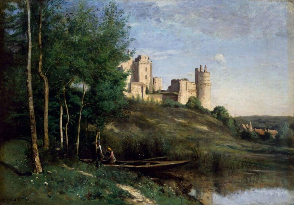 Jean-Baptiste-Camille Corot, Ruins of the Château de Pierrefonds, ca. 1830-35, Cincinnati Art Museum, Cincinnati, OH, USA.