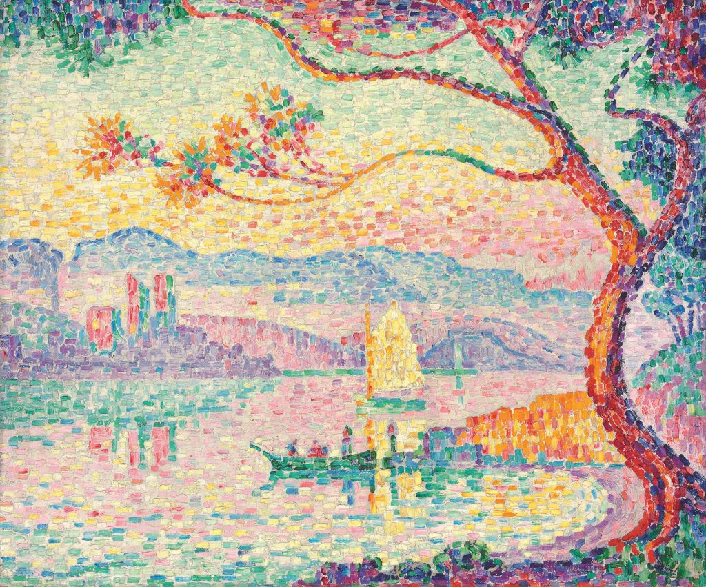 sunshine paintings: Paul Signac, Port d'Antibes, 1917, private collection.
