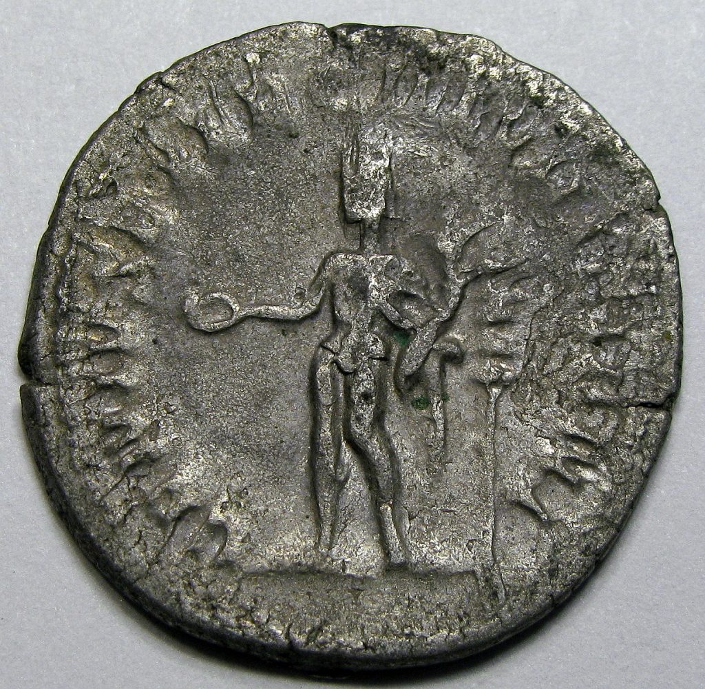 Antoninianus coin with a personification of the Ilyrian army.