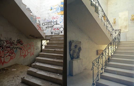 After and before the vandalisms.