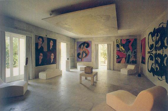 Andy Warhol room in Villa Iolas.
