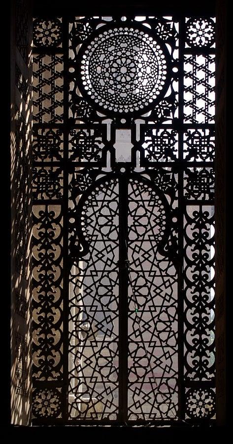 Islamic art: Iron gate, Al-Rifa'i Mosque, 1869-1912, Cairo, Egypt.