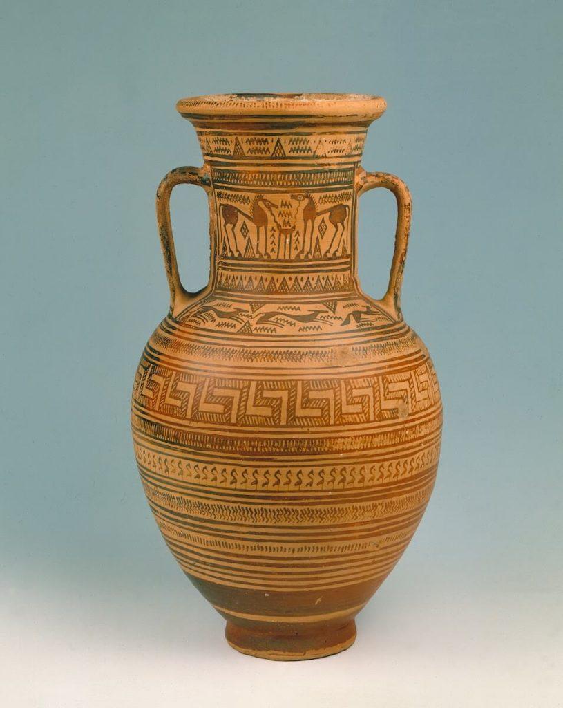 Neck amphora decorated with animals, ca. 720 BCE, Staatliche Museen zu Berlin, Antikensammlung, Berlin, Germany. Photo by Jürgen Liepe.