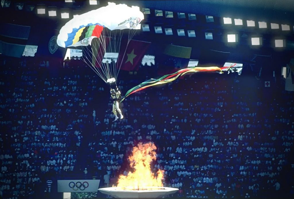 Opening Ceremony Parachute, 1988 Seoul Olympic Games, Olympics