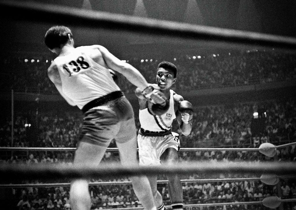 Cassius Clay and Zbigniew Pietrzykowski, Rome, 1960. Olympics