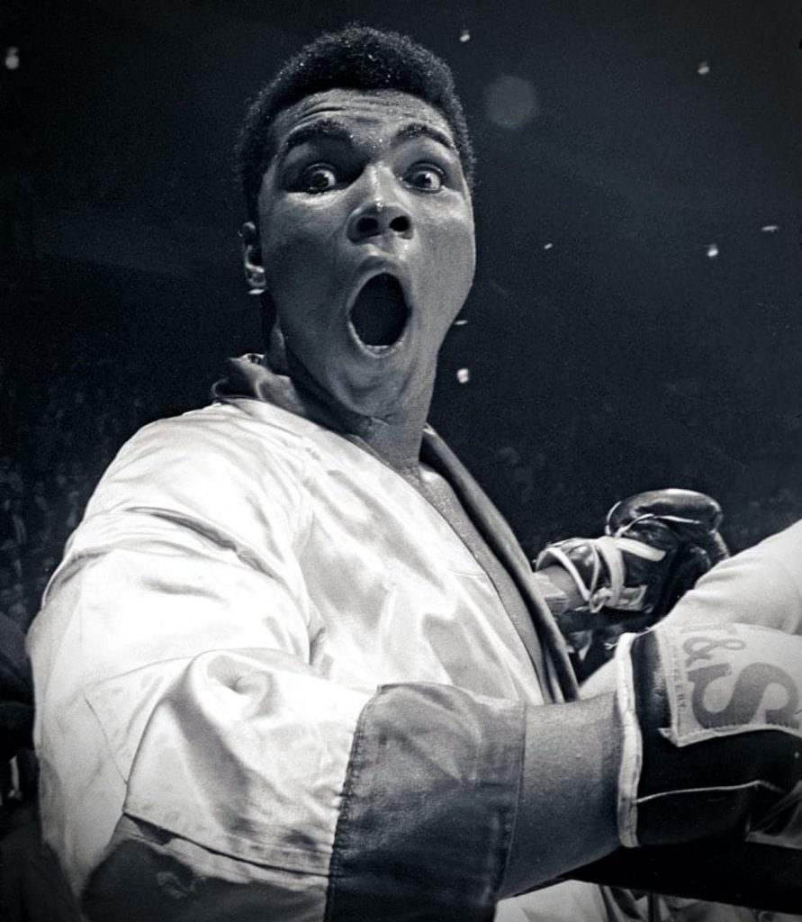 Cassius Clay before his bout with Doug Jones, 1963, Olympics