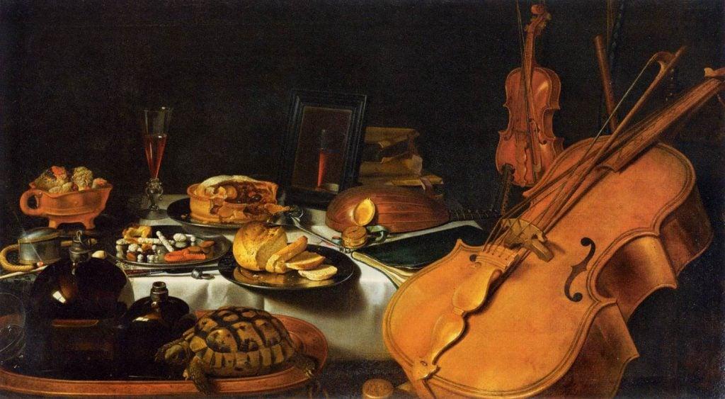 Pieter Claesz, Still Life with Musical Instruments, 1623, Louvre Museum, Paris, France