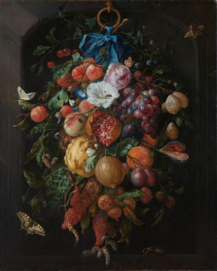 Jan Davidsz. de Heem, Festoon of Fruit and Flowers, 1660 - 1670, Rijksmuseum, Amsterdam, Netherlands