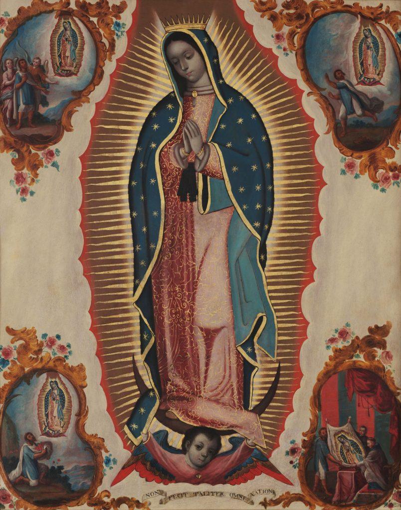 Sebastián Zalcedo, Virgin of Guadalupe, ca 1780, Museo Colección Blaisten, Mexico City, Mexico. Detail.