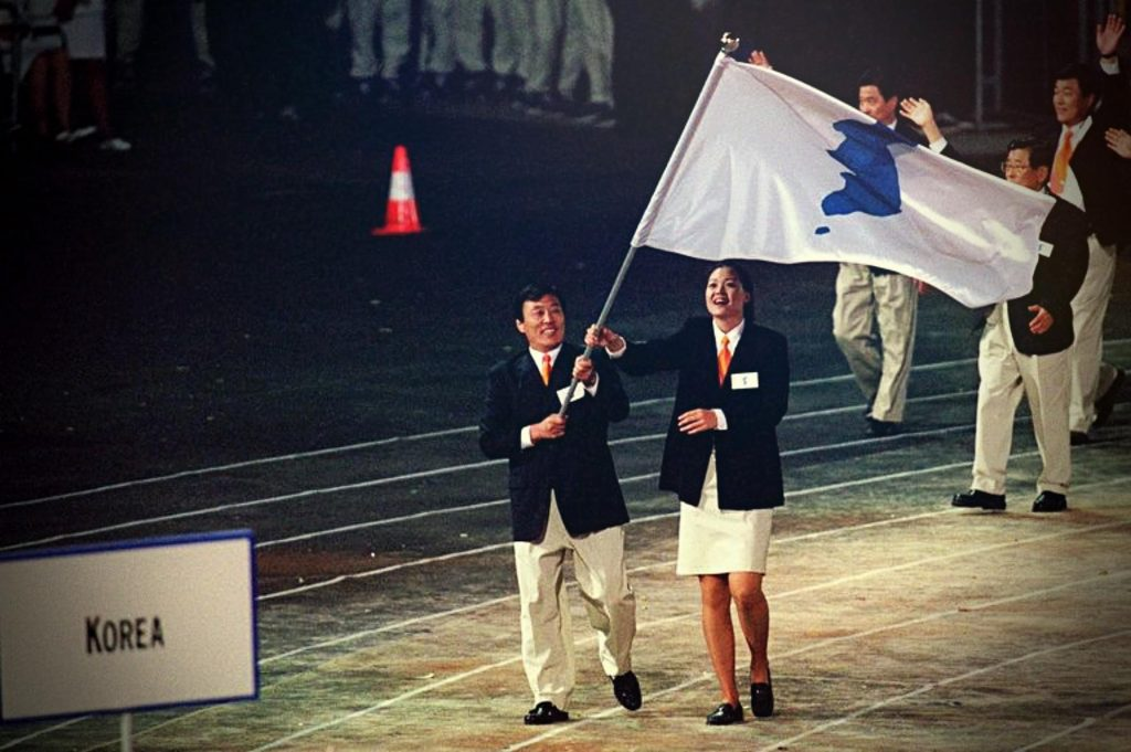 South and North Korean delegations parade together at the Olympic Games, 2000, Olympics