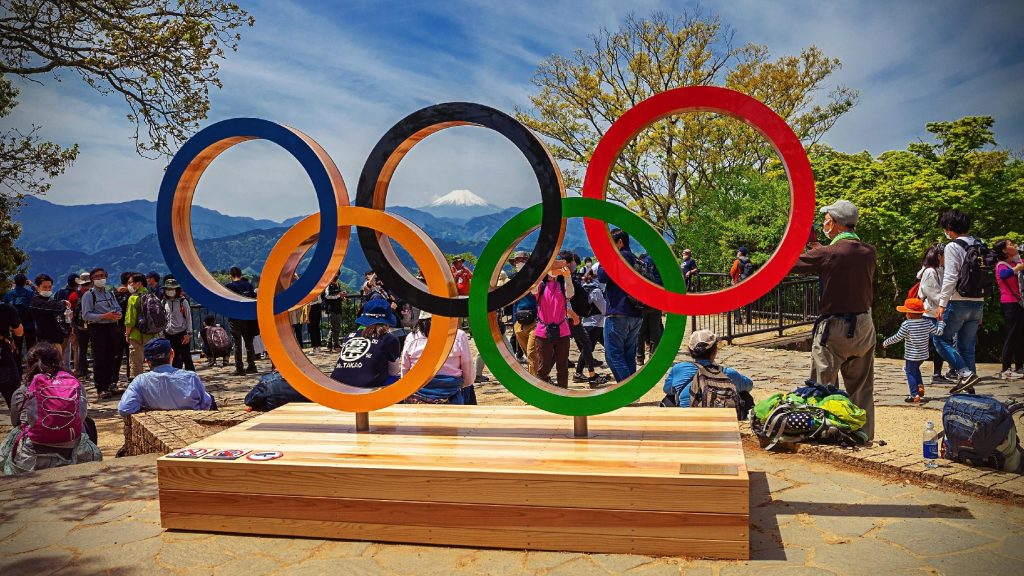 The Olympic rings, Tokyo, Japan, 2020, Olympics