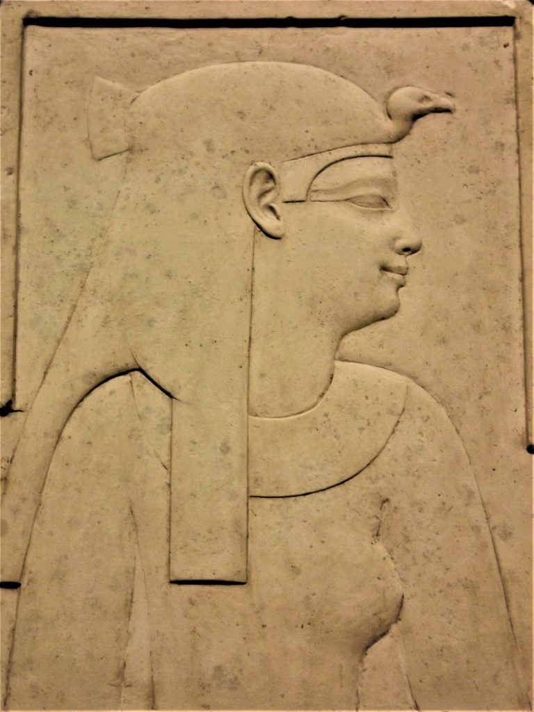 Dailyart magazine favorite museums: Carved frieze of Cleopatra VII circa 51–30 BCE, Museo Egizio, Turin, Italy