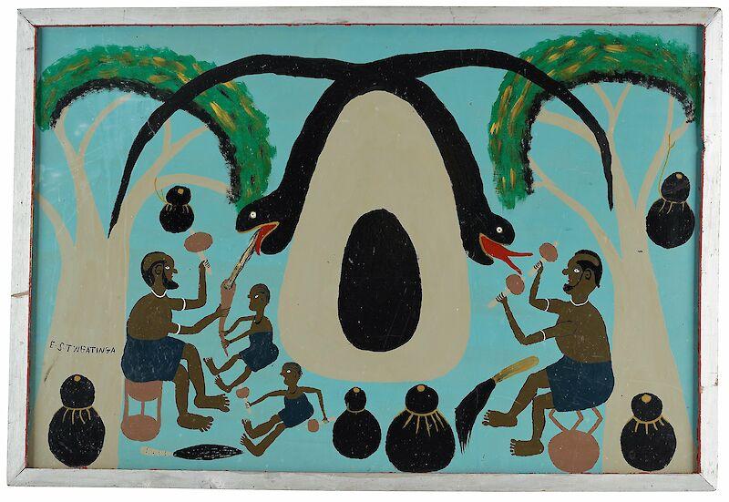 Edward Tingatinga, Untitled, 1972,