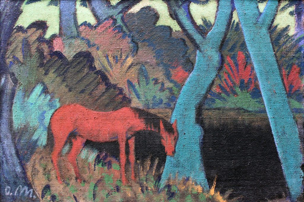 Roma, Otto Mueller, Gypsy Horse at Black Water, 1928, Germanisches National Museum, Nuremberg, Germany.