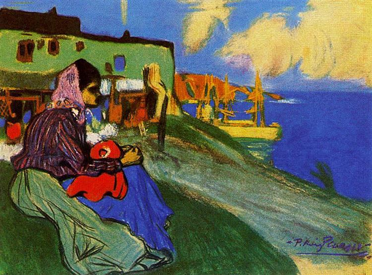 Pablo Picasso, Gypsy infront of Musca, 1900