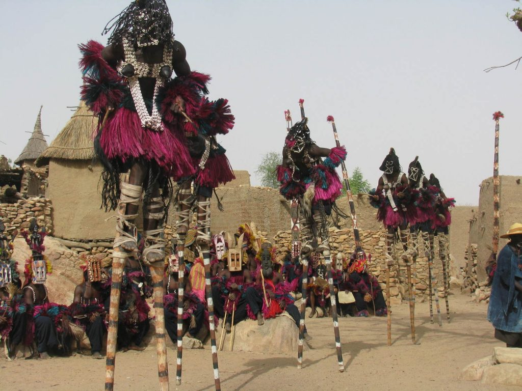 The funeral rite called Damas by Dogon people