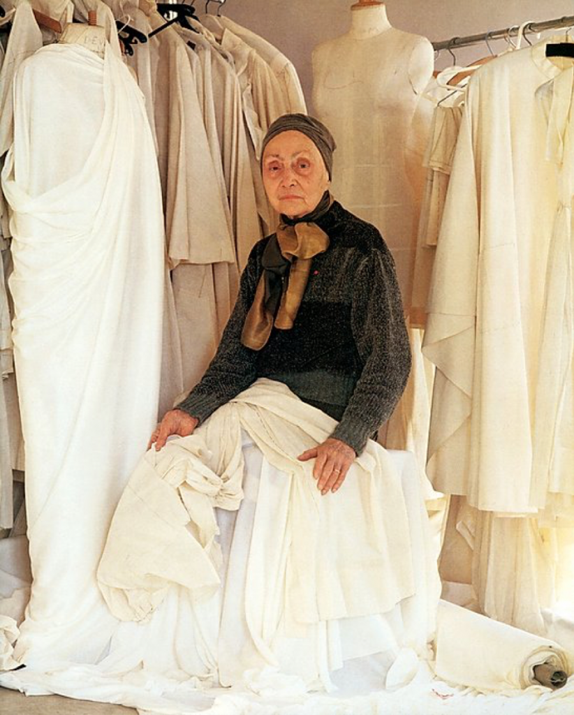 Madame Grès photographed by Lord Snowdon, c. 1984