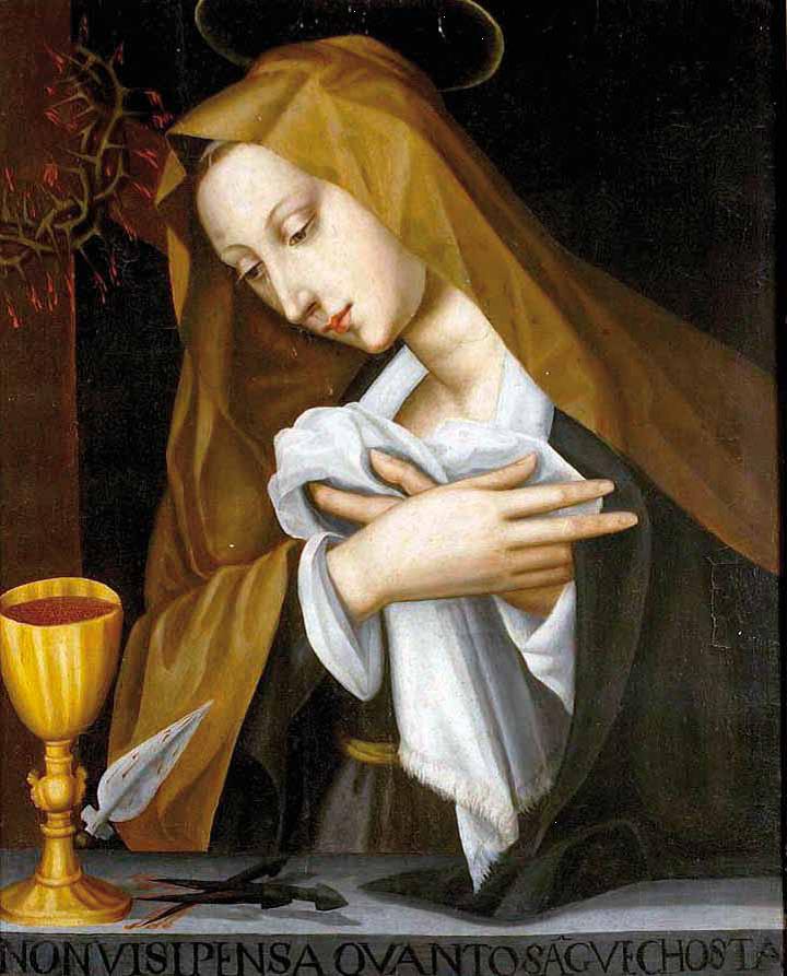 Plautilla Nelli. Plautilla Nelli, Pained Madonna, oil on panel, 71 x 57 cm, Museum of the Last Supper of Andrea del Sarto, Florence, Italy.