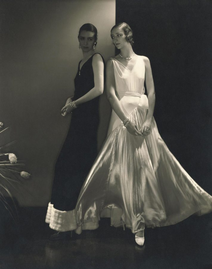 Edward Steichen, Model Marion Morehouse, and another model wearing dresses by Madeleine Vionnet, 1930, New York, NY, USA. Fashion Photographers