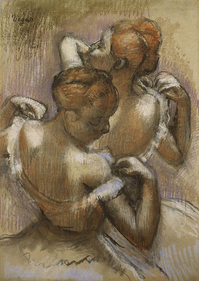 Edgar Degas, Two Dancers Adjusting their Shoulder Straps, c. 1897.